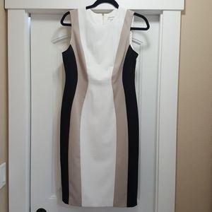 Calvin Klein sleeveless flattering dress